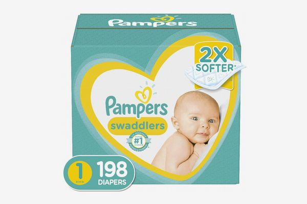 Pampers Swaddlers Disposable Diapers Size 1 (198 Count)
