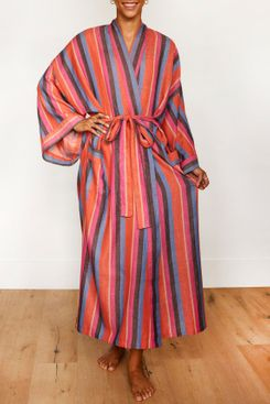 Bathen Stripe Robe in Daze