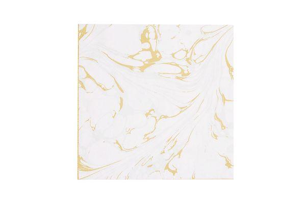 Marble Print Paper Napkins
