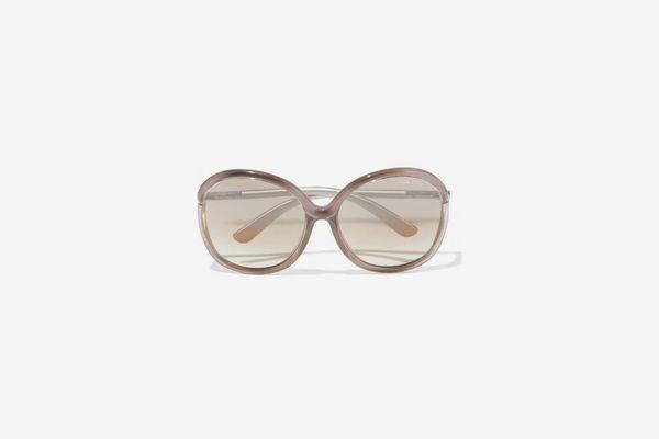 Tom Ford Miranda Oversized Round-frame Acetate Sunglasses