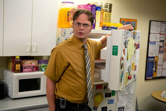 "THE OFFICE -- ""New Guys"" Episode 901 -- Pictured: Rainn WIlson as Dwight Schrute-- (Photo by: Justin Lubin/NBC)"
