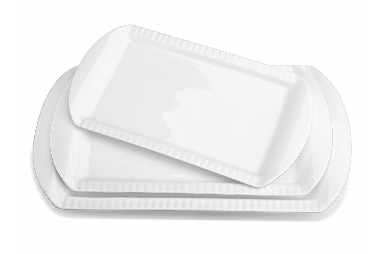 Lifver Porcelain Serving Platters (Set of 3)