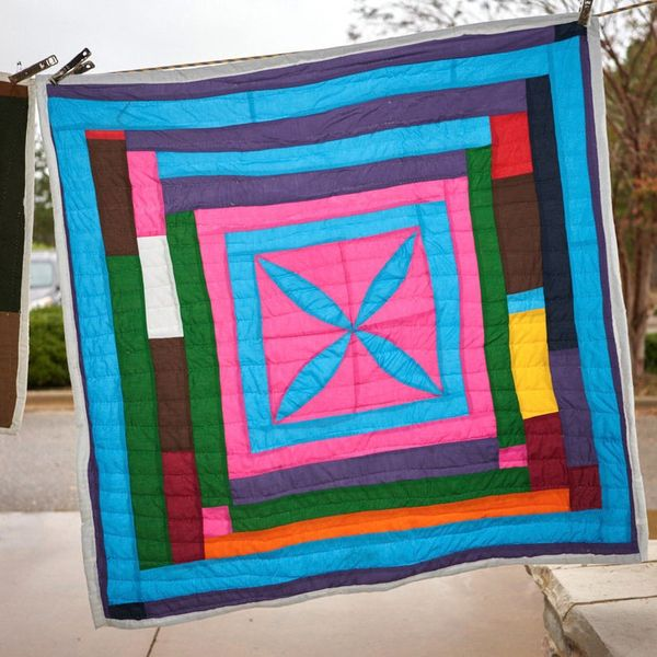 ShasShopGeesBend Hand-Sewn Quilted Tapestry