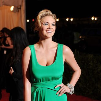 Model Kate Upton attends the Costume Institute Gala for the