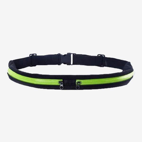 TIKANON Running Belt Slim Waist Pocket Belt with 2 Expandable Pockets