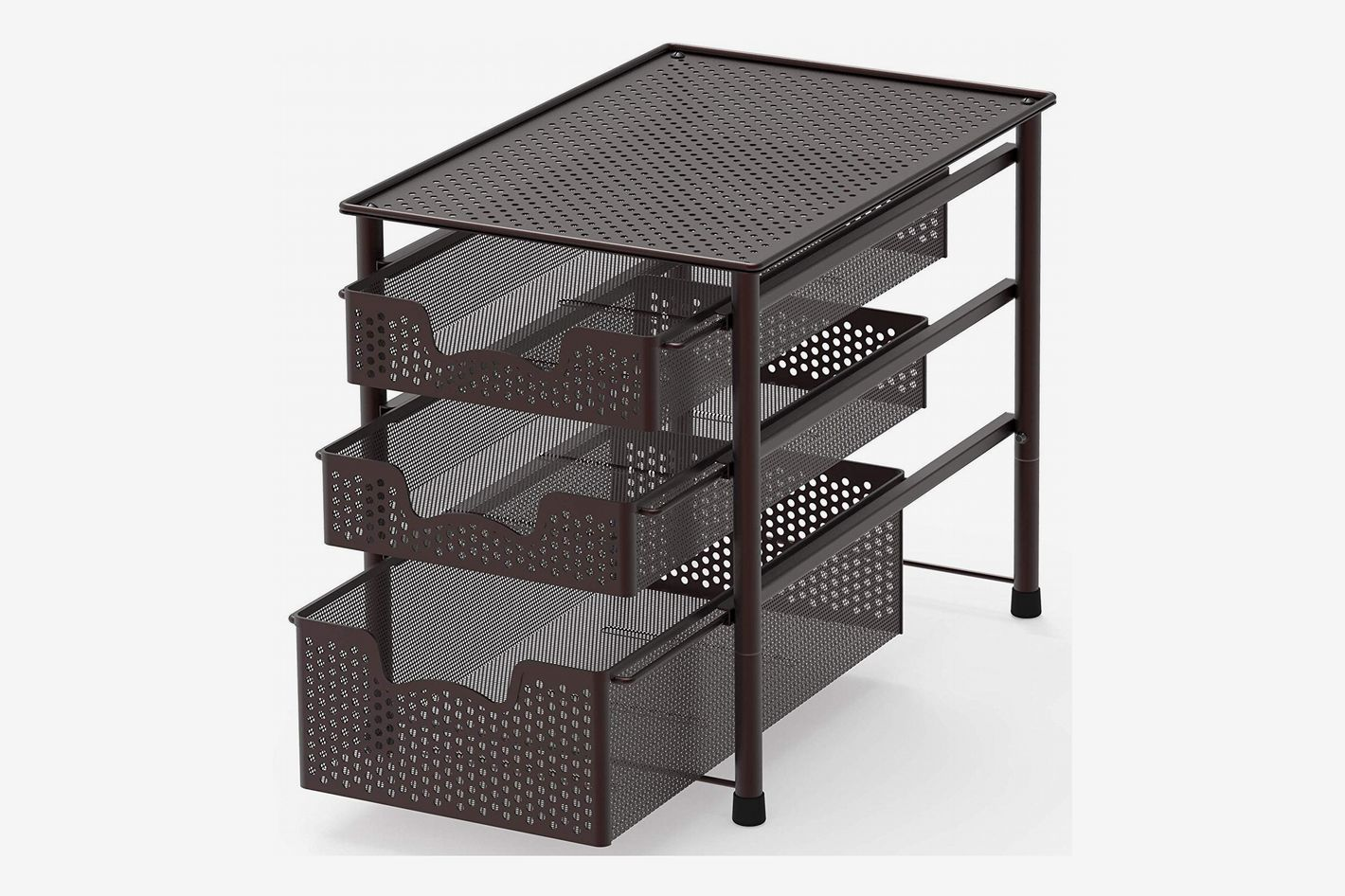 Simple Houseware Stackable 3 Tier Sliding Basket Organizer Drawer