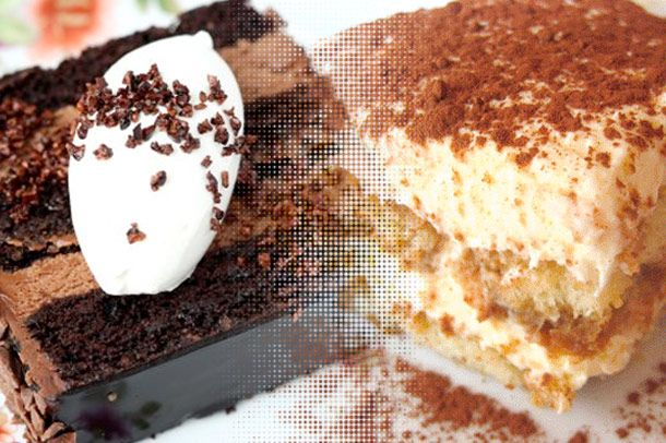 Dessert confusion: Blackout cake from the new Carbone, tiramisu from the Hell's Kitchen Carbone.