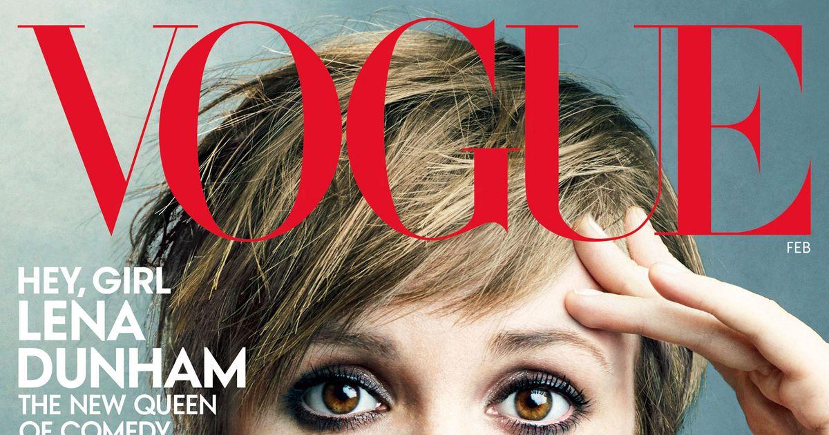 Lena Dunham Vogue Unretouched
