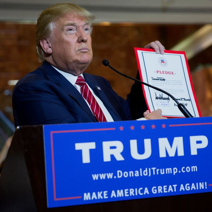 Republican Presidential Candidate Donald Trump News Conference