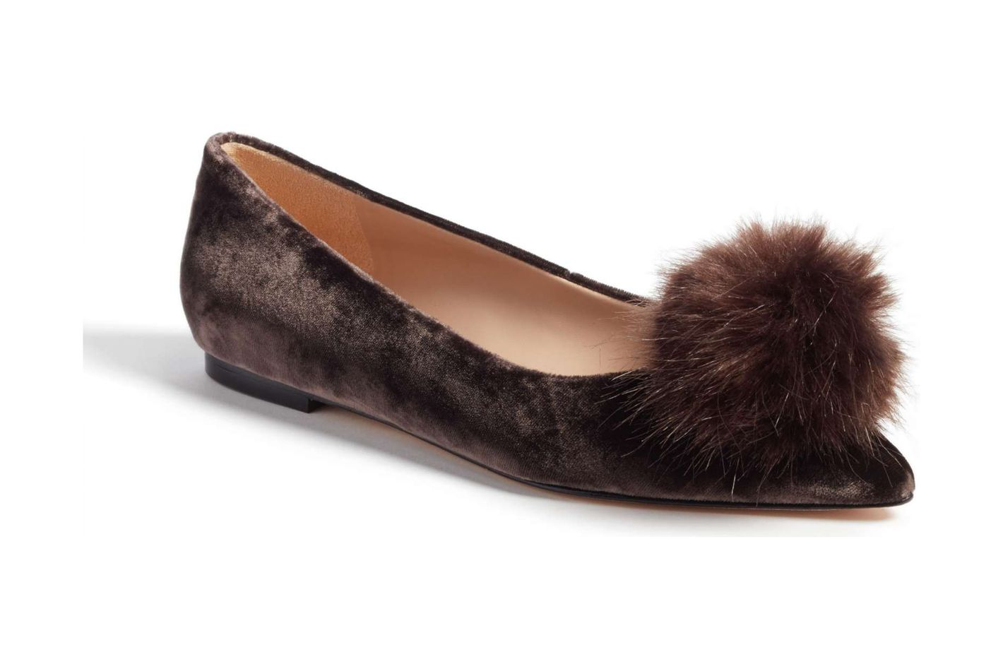 Sam Edelman Raddie Faux Fur Pompom Flat