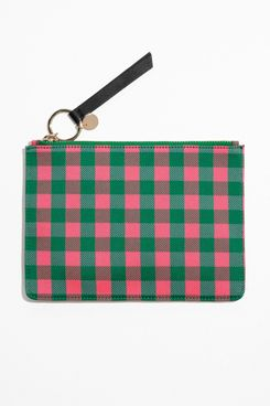 & Other Stories Gingham Pouch