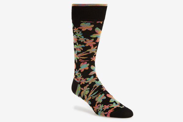 Bugatchi Floral Mid-Calf Socks