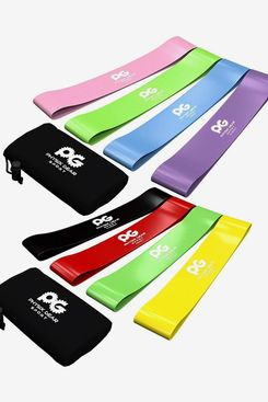 Physix Gear Skin-Friendly Non Latex Resistance Loop Bands Set of 4