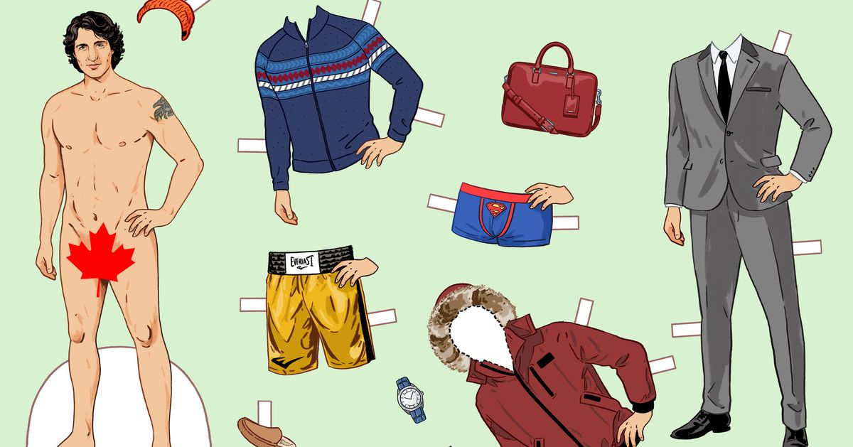Say Bonjour To This Justin Trudeau Paper Doll