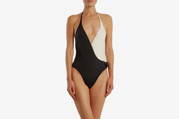Solid & StripedThe Matilde Halter-Neck Swimsuit