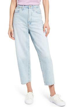 Madewell Balloon Super-High-Waist Crop Wide-Leg Jeans