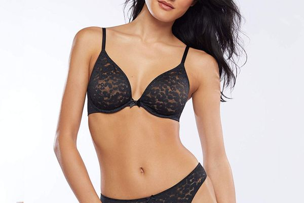 Savage X Fenty Women's Reg Unlined Leopard Lace Bra