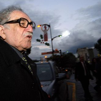 Literature Nobel Price Colombian Gabriel Garc?a M?rquez, at his arrival to the University of Guadalajara in Guadalajara Mexico, 23 November 2007. AFP PHOTO/Ivan Garcia (Photo credit should read IVAN GARCIA/AFP/Getty Images)