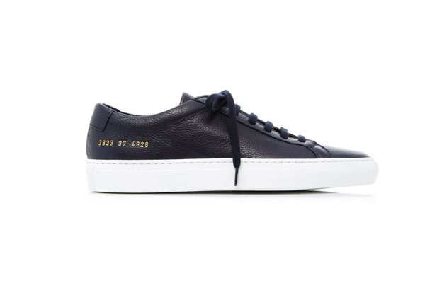 Common Projects Original Achilles Low Leather Sneakers, Navy