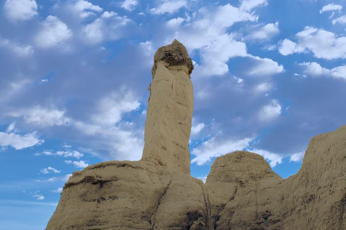 Rock cliffs, Plaza Blanca, Abiquiu, New Mexico, USA, Sep 2010