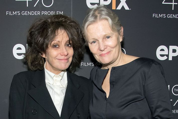 Amy Heckerling and Mary Harron at the premiere of <i>The 4%: Film's Gender Problem</i>.