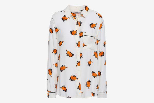 Ganni Roseburg Printed Crepe de Chine Shirt