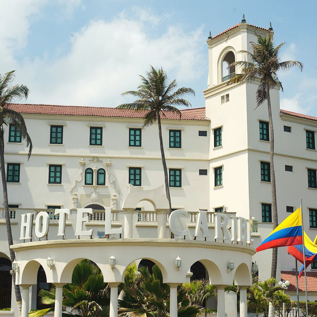 A general view of the Hotel Caribe in Cartagena, Colombia on April 15, 2012. US secret service agents who have been accused of misconduct amid a sex scandal had reportedly stayed at the Hotel Caribe before being set back to the US.