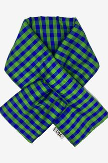Coming of Age Gingham Lime Blue Padded Scarf