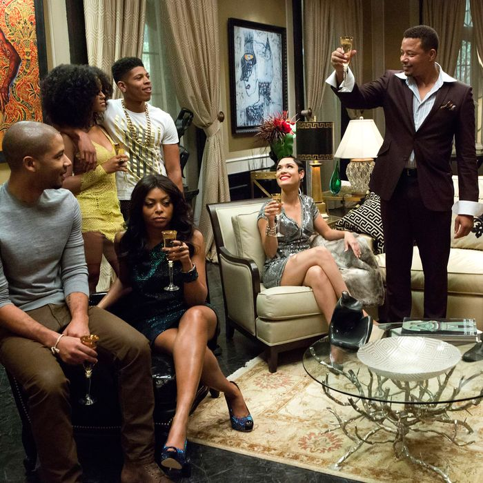 EMPIRE: Lucious (Terrence Howard) toasts his family in the