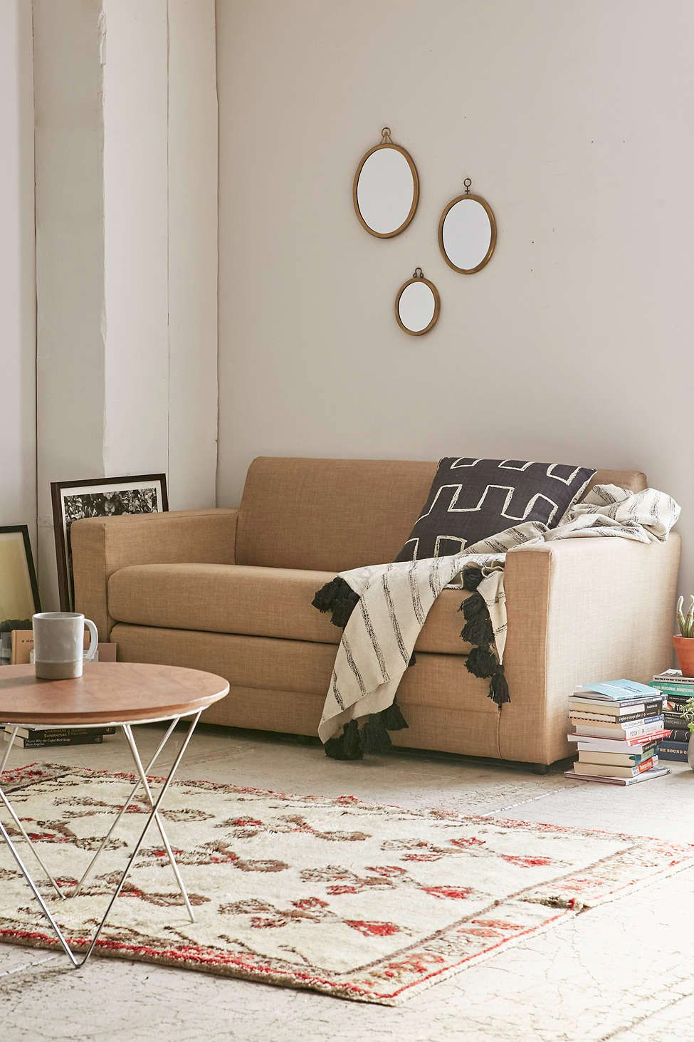 u201cThis great simple sofa is actually a convertible that turns into a bed (on the floor) for your overnight guests. If you want something more modern and ... : sectionals under 500 - Sectionals, Sofas & Couches