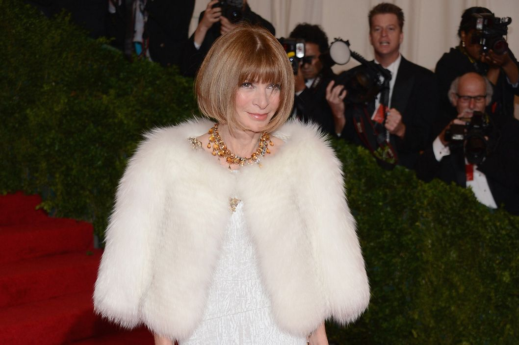 "Editor-in-Chief of Vogue Anna Wintour attends the ""Schiaparelli And Prada: Impossible Conversations"" Costume Institute Gala at the Metropolitan Museum of Art on May 7, 2012 in New York City."
