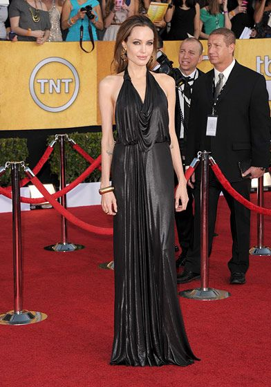 LOS ANGELES, CA - JANUARY 29:  Actress Angelina Jolie arrives at the 18th Annual Screen Actors Guild Awards at The Shrine Auditorium on January 29, 2012 in Los Angeles, California.  (Photo by Jason Merritt/Getty Images)