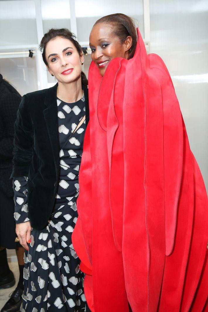 Tiffany creative director Francesca Amfitheatrof and Michelle Elie.