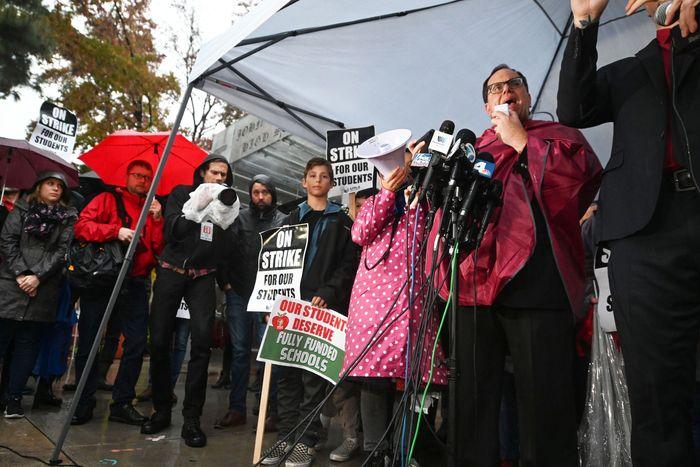 Los Angeles teachers striking.