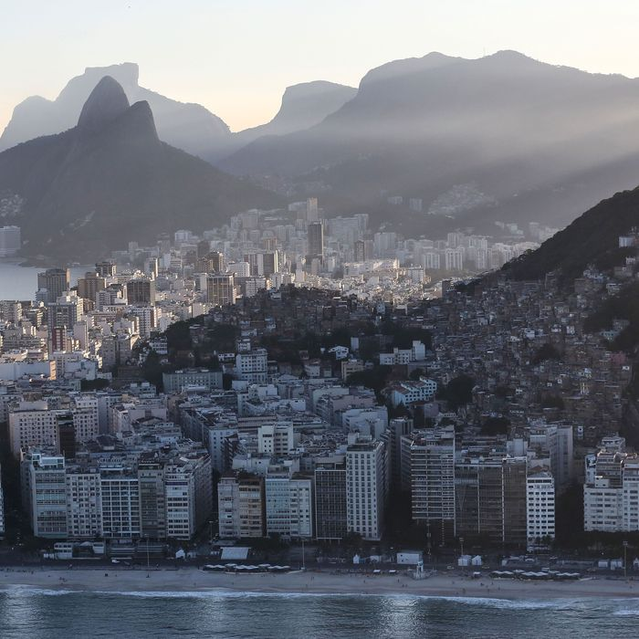 Copacabana Beach, one of the Olympic venue locations.