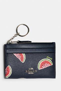 Coach Mini Skinny ID Case With Watermelon Print