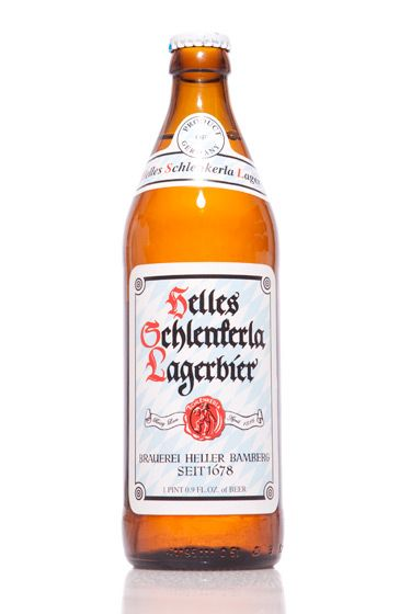 "Brauerei Heller (Germany)<br>$6.40 for 16.9 oz. <br><strong>Type:</strong> Lager<br><strong>Tasting notes:</strong> ""A golden lager brewed in a brewery primarily known for Rauchbiers, which feature beechwood-smoked malt. This one picks up a bit of the smoke from its neighbors, but is a malty golden lager at heart. Do your wurst."" <br>—Matt Barclay, cellar manager, Bierkraft<br>   <br>"