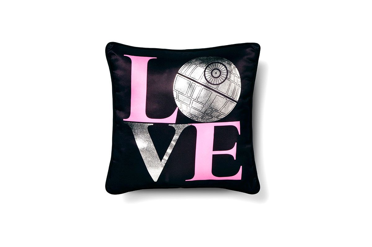 Star Wars Classic Girl Death Star Love Throw Pillow