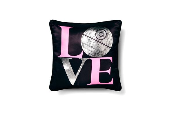 Star Wars Classic Girl Death Star Love Throw Pillow