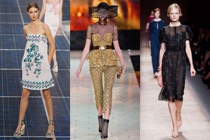 Chanel, Alexander McQueen, Valentino