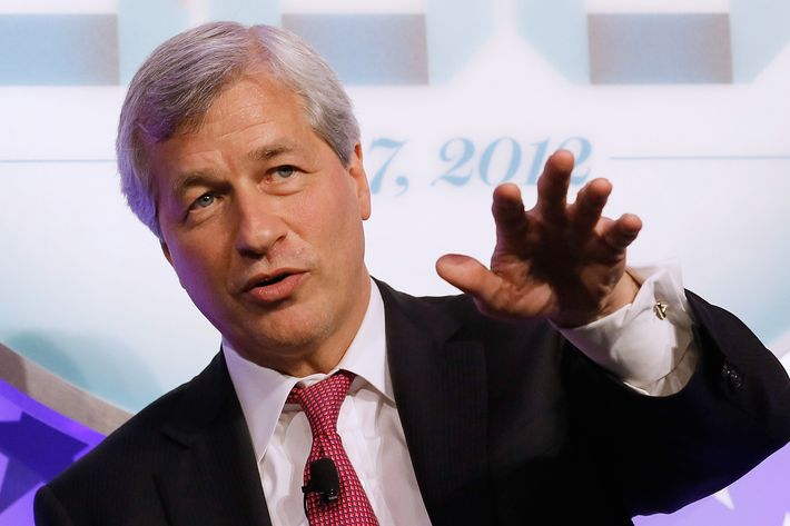 """NEW YORK, NY - MAY 07:  Chairman and CEO, JPMorgan Chase & Co, James """"Jamie"""" Dimon speaks during An Evening With the Fortune 500 at the New York Stock Exchange on May 7, 2012 in New York City.  (Photo by Jemal Countess/Getty Images for Time)"""