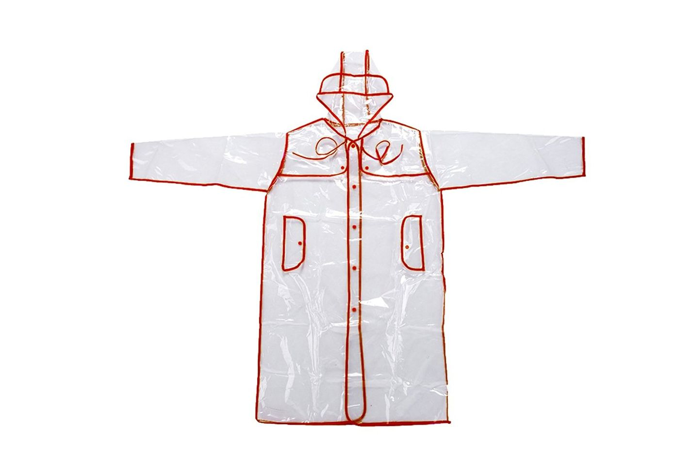 Mengsha's Transparent Fashionable Vinyl Women's Raincoat
