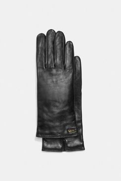 Coach Horse And Carriage Leather Tech Gloves