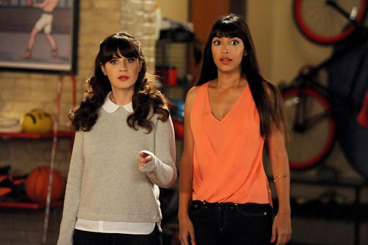 "NEW GIRL:  Jess (Zooey Deschanel, L) and Cece (Hannah Simone, R) are forced to stay in the loft and go on a spider hunt in the all-new ""Spiderhunt"" episode of NEW GIRL airing Tuesday, Feb. 24 (9:00-9:30 PM ET/PT) on FOX.  ?2015 Fox Broadcasting Co. Cr: PHOTOGRAPHER/FOX"
