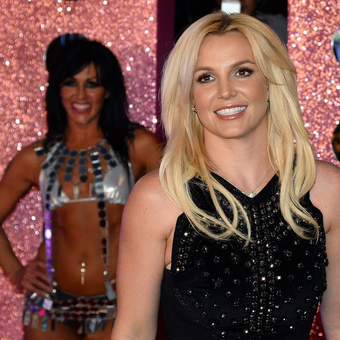 LAS VEGAS, NV - DECEMBER 03: Singer Britney Spears arrives at a welcome ceremony as she celebrates the release of her new album