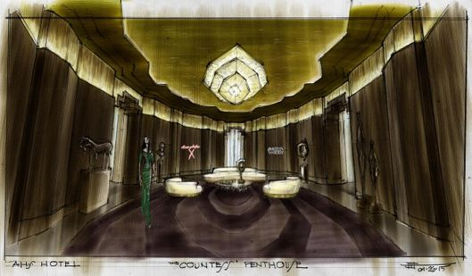 Inside the creepiest rooms at ahs hotel cortez vulture for Ahs hotel decor