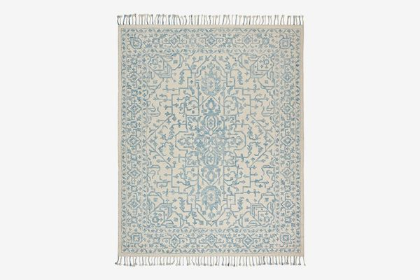 Stone & Beam New England Tasseled Wool Farmhouse Area Rug, 5' x 8'