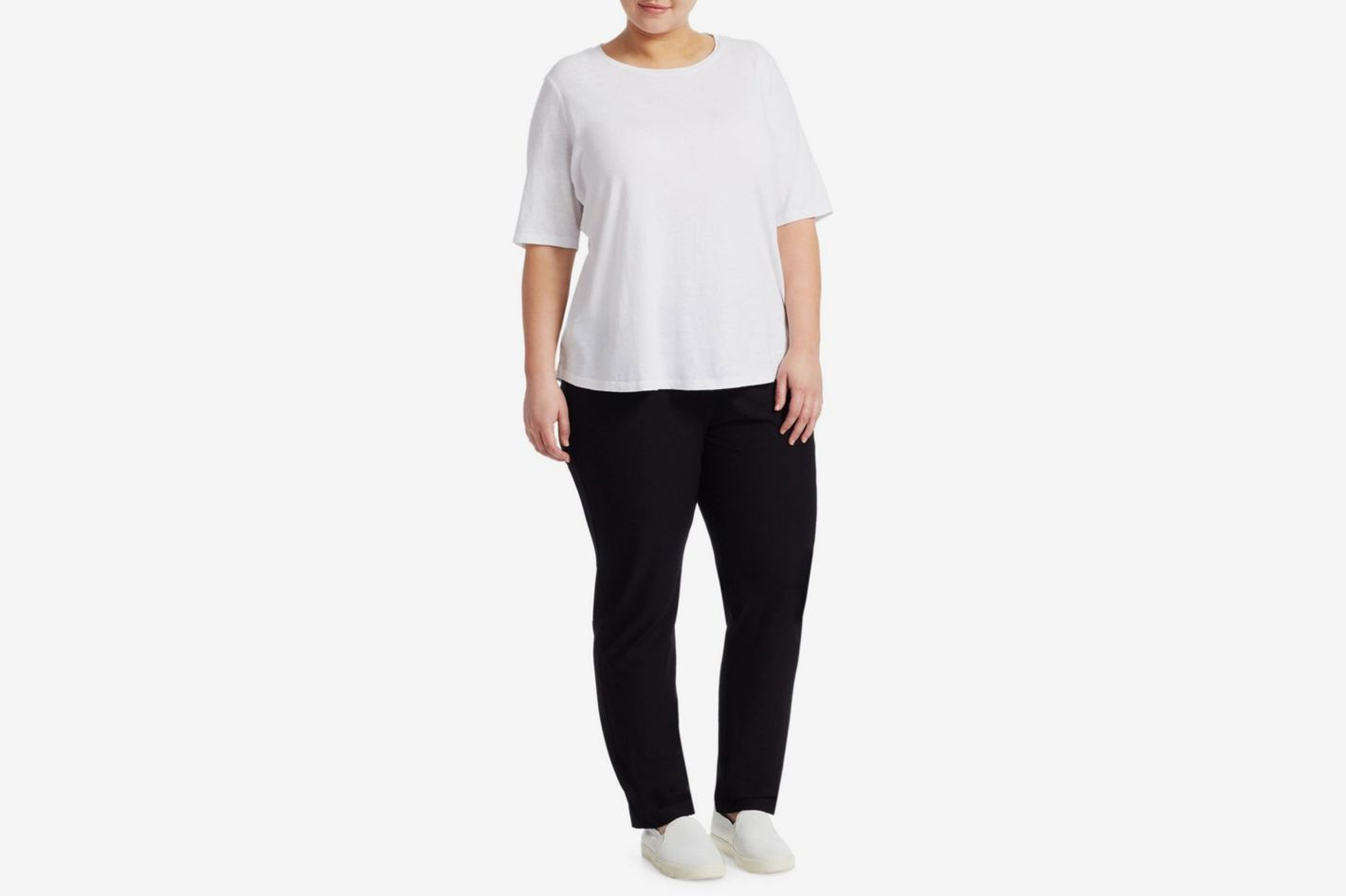 Eileen Fisher System Slim Stretch-Crepe Ankle Pants