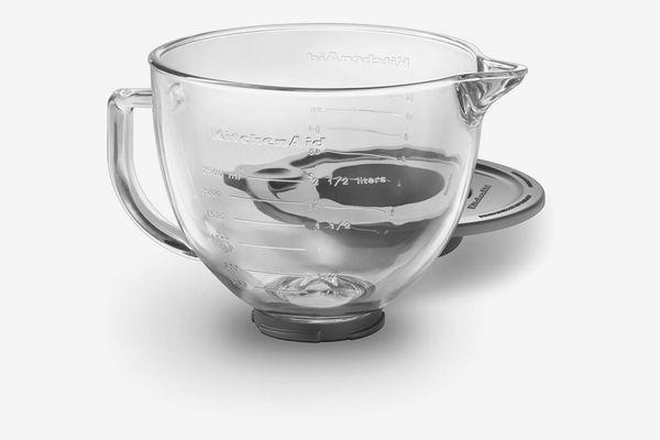KitchenAid K5GB 5-Quart Tilt-Head Glass Bowl With Measurement Markings & Lid