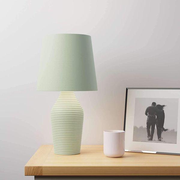 EEMKAY® New Ceramic Luna Stoneware Sage Green Table Lamp